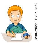 illustration of a kid boy... | Shutterstock .eps vector #1196278378