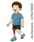 illustration of a kid boy... | Shutterstock .eps vector #1196278408