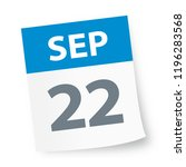 september 22   calendar icon  ... | Shutterstock .eps vector #1196283568