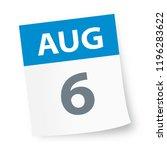 august 6   calendar icon  ... | Shutterstock .eps vector #1196283622