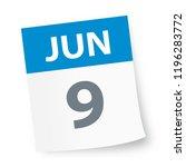 june 9   calendar icon   vector ... | Shutterstock .eps vector #1196283772