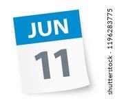 june 11   calendar icon  ... | Shutterstock .eps vector #1196283775
