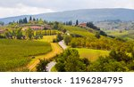 tuscany landscape with... | Shutterstock . vector #1196284795