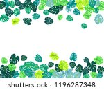 turquoise tropical jungle... | Shutterstock .eps vector #1196287348