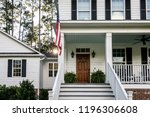 front porch with stairs of all... | Shutterstock . vector #1196306608