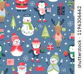 seamless pattern for christmas... | Shutterstock .eps vector #1196306662