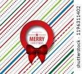 christmas theme layout cover.... | Shutterstock .eps vector #1196311402