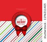 christmas theme layout cover.... | Shutterstock .eps vector #1196311405