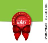 christmas theme layout cover.... | Shutterstock .eps vector #1196311408