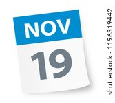 november 19   calendar icon  ... | Shutterstock .eps vector #1196319442