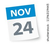 november 24   calendar icon  ... | Shutterstock .eps vector #1196319445