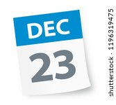 december 23   calendar icon  ... | Shutterstock .eps vector #1196319475