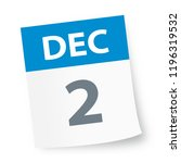 december 2   calendar icon  ... | Shutterstock .eps vector #1196319532