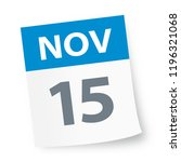 november 15   calendar icon  ... | Shutterstock .eps vector #1196321068