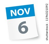 november 6   calendar icon  ... | Shutterstock .eps vector #1196321092
