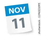 november 11   calendar icon  ... | Shutterstock .eps vector #1196321095