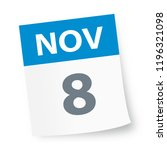 november 8   calendar icon  ... | Shutterstock .eps vector #1196321098