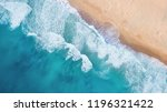 beach and waves from top view....   Shutterstock . vector #1196321422