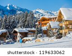 Snow Covered Cottages At The...
