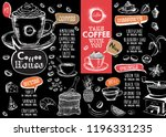 coffee house menu. restaurant... | Shutterstock .eps vector #1196331235