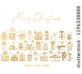 merry christmas and happy new...   Shutterstock .eps vector #1196338888
