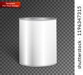 white tall tub paint bucket...   Shutterstock .eps vector #1196347315