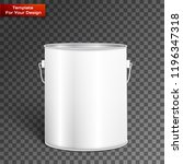 white tall tub paint bucket... | Shutterstock .eps vector #1196347318