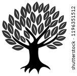 tree  vector  silhouette ... | Shutterstock .eps vector #1196351512