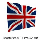 waving flag of the great... | Shutterstock . vector #1196364505