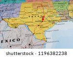 texas state on the map   Shutterstock . vector #1196382238