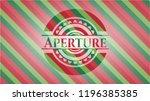 aperture christmas style badge.. | Shutterstock .eps vector #1196385385