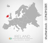 map of european union with the... | Shutterstock .eps vector #1196391085
