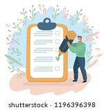 vector cartoon illustration of... | Shutterstock .eps vector #1196396398