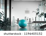 interior of modern gym with... | Shutterstock . vector #1196405152