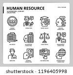 human resource icon set | Shutterstock .eps vector #1196405998