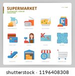 supermarket icon set | Shutterstock .eps vector #1196408308