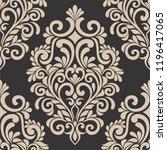 abstract damask seamless...   Shutterstock .eps vector #1196417065