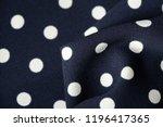 blue and white polka dot... | Shutterstock . vector #1196417365