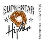 typography slogan with baseball ... | Shutterstock .eps vector #1196417515