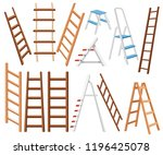 collection of metal and wooden... | Shutterstock .eps vector #1196425078
