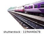 close up train in station and... | Shutterstock . vector #1196440678