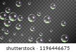 soap bubbles with rainbow... | Shutterstock .eps vector #1196446675