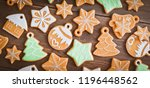 christmas homemade gingerbread... | Shutterstock . vector #1196448562