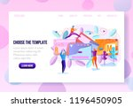 company landing page or... | Shutterstock .eps vector #1196450905
