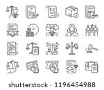 legal services icon set.... | Shutterstock .eps vector #1196454988