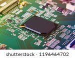 electronic circuit board close... | Shutterstock . vector #1196464702