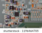 electronic circuit board close... | Shutterstock . vector #1196464705