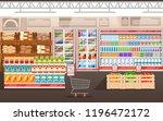 supermarket illustration. store ... | Shutterstock .eps vector #1196472172