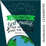 hand lettering in the beginning ... | Shutterstock .eps vector #1196484745