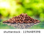 roasted coffee beans | Shutterstock . vector #1196489398